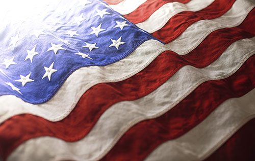 USA background of waving American flag